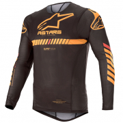Alpinestars SuperTech Black Orange Red Jersey