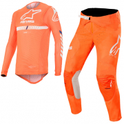 Alpinestars SuperTech Orange Fluo White Blue Kit Combo