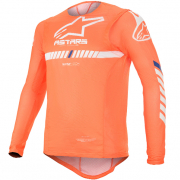 Alpinestars SuperTech Orange Fluo White Blue Jersey