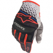 Alpinestars Techstar Light Grey Black Red Gloves