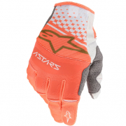 Alpinestars Techstar White Orange Gold Gloves
