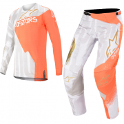 Alpinestars Techstar Factory Metal Wht Orange Gold Kit Combo