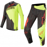 Alpinestars Techstar Factory Black Yellow Red Kit Combo