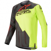 Alpinestars Techstar Factory Black Yellow Red Jersey