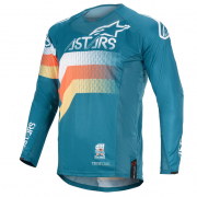 Alpinestars Techstar Venom Petrol White Orange Jersey