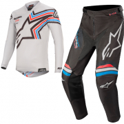 Alpinestars Racer Braap Light Grey Black Kit Combo
