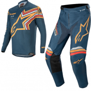 Alpinestars Racer Braap Navy Orange Kit Combo