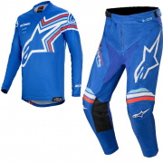 Alpinestars Racer Braap Blue White Kit Combo