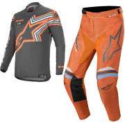 Alpinestars Racer Braap Grey Orange Fluo Kit Combo