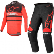 Alpinestars Racer Supermatic Red Black Kit Combo