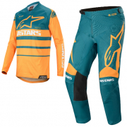 Alpinestars Racer Supermatic Orange Petrol Kit Combo