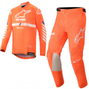Alpinestars Kids Racer Tech Orange White Blue Kit Combo