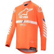 Alpinestars Kids Racer Tech Orange White Blue Jersey