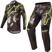 Alpinestars Kids Racer Tactical Black Grey Yellow Kit Combo