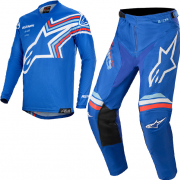 Alpinestars Kids Racer Braap Blue White Kit Combo