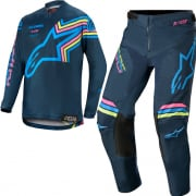 Alpinestars Kids Racer Braap Navy Aqua Pink Kit Combo