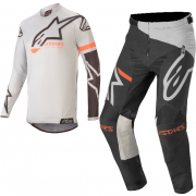 Alpinestars Kids Racer Compass Light Grey Black Kit Combo