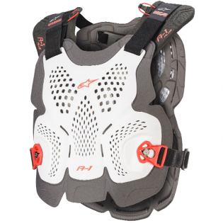 Alpinestars A1 Plus White Anthracite Red Chest Protector