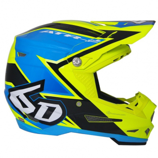 6D ATR-2 Strike Yellow Blue Helmet