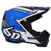 6D ATR-2 Strike Blue White Helmet