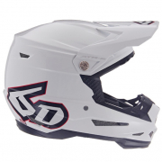 6D ATR-2 Strike Solid Gloss White Helmet