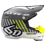 6D ATR-2 Motion Grey Yellow Helmet