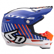 6D ATR-2 Motion Blue Orange Helmet