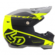 6D ATR-2 Shadow Yellow Black Helmet