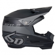 6D ATR-2 Metric Black Helmet
