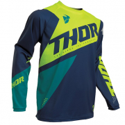Thor Kids Sector Blade Navy Acid Jersey