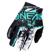 ONeal Matrix Impact Black Teal Motocross Gloves