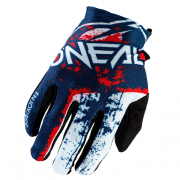 ONeal Matrix Impact Blue Red Motocross Gloves