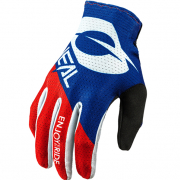 ONeal Matrix Stacked Blue Red Motocross Gloves