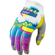 ONeal Mayhem Crackle 91 Yellow Blue Motocross Gloves