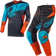 ONeal Element Factor Grey Orange Blue Kit Combo