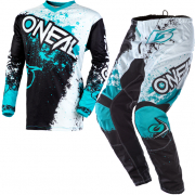 ONeal Element Impact Black Teal Kit Combo