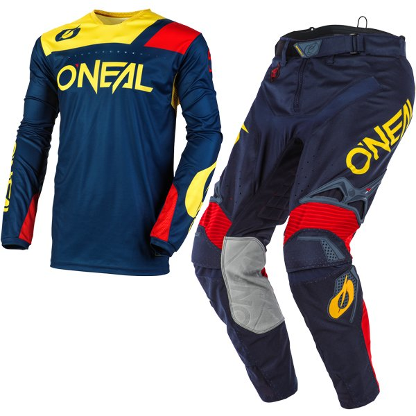 Yellow//White//Blue, XXL ONeal Mayhem Crackle 91 Adult Jersey