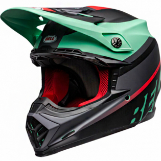 Bell Moto 9 MIPS Prophecy Green Infrared Black Helmet