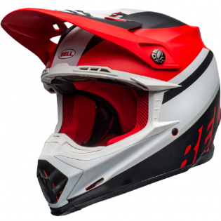 Bell Moto 9 MIPS Prophecy White Red Black Helmet
