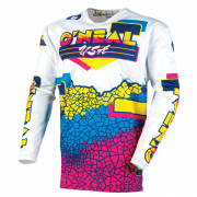 ONeal Mayhem Lite Crackle 91 Yellow White Blue Jersey