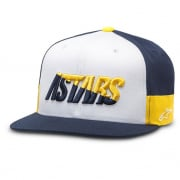Alpinestars Faster Hat White Navy Gold
