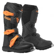 Thor Kids Blitz XP Charcoal Orange Boots