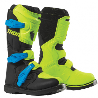 Thor Kids Blitz XP Flo Yellow Black Boots