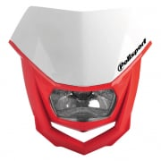 Polisport Halo H2 White Red Headlight