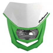Polisport Halo H2 White Green Headlight