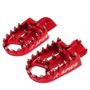 Apico Xtreme Anodised Honda Red Wide Foot Pegs