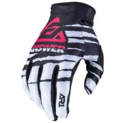 Answer AR-1 Glo Pro White Black Pink Gloves