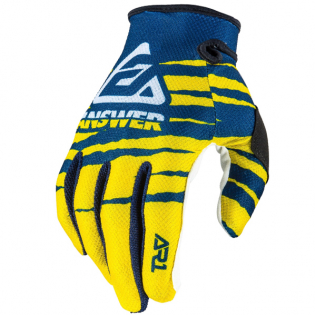 Answer AR-1 Glo Pro Yellow Midnight White Gloves