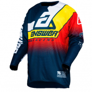 Answer Elite Midnight White Yellow Red Jersey