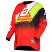 Answer Elite Red White Hyperacid Black Jersey